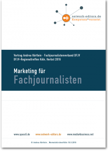 marketing für fachjournalisten - fachvortrag marketing andrea härtlein